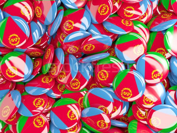 Background with round pins with flag of eritrea Stock photo © MikhailMishchenko