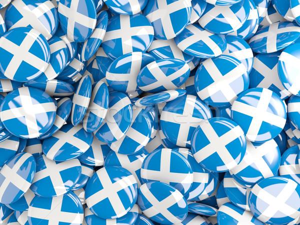 Bandera Escocia fondo país pin círculo Foto stock © MikhailMishchenko