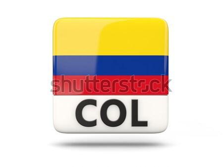 Szeretet Colombia felirat izolált fehér zászló Stock fotó © MikhailMishchenko