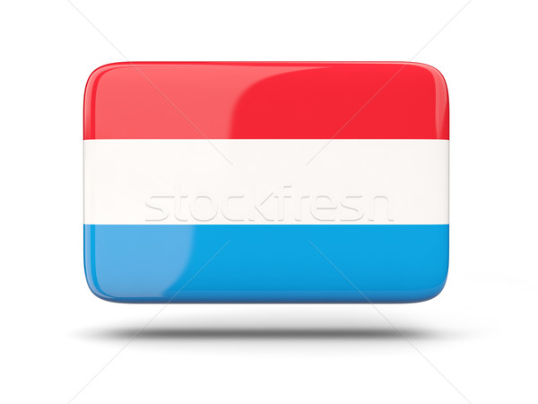 Square icon with flag of luxembourg Stock photo © MikhailMishchenko