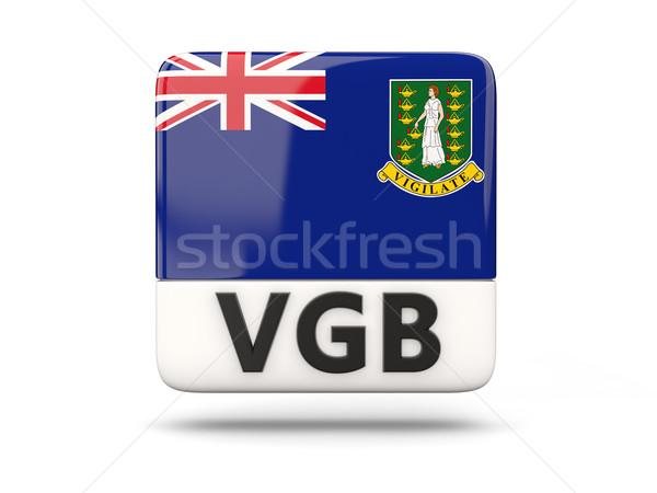 квадратный икона флаг Виргинские о-ва британский iso Сток-фото © MikhailMishchenko
