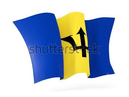 флаг Барбадос 3d иллюстрации изолированный белый Сток-фото © MikhailMishchenko