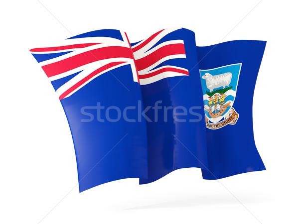Integet zászló Falkland-szigetek 3d illusztráció izolált fehér Stock fotó © MikhailMishchenko