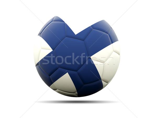 Futball zászló Finnország 3d illusztráció futball sport Stock fotó © MikhailMishchenko