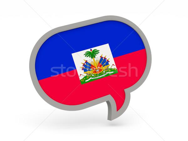 チャット アイコン フラグ ハイチ 孤立した 白 ストックフォト © MikhailMishchenko