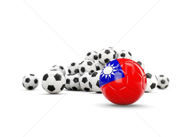 Football with flag of taiwan isolated on white Stock photo © MikhailMishchenko