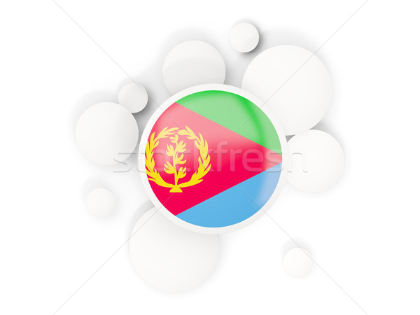 Round flag of eritrea with circles pattern Stock photo © MikhailMishchenko