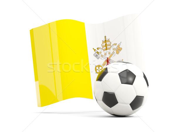 Foto stock: Futebol · bandeira · vaticano · cidade · isolado