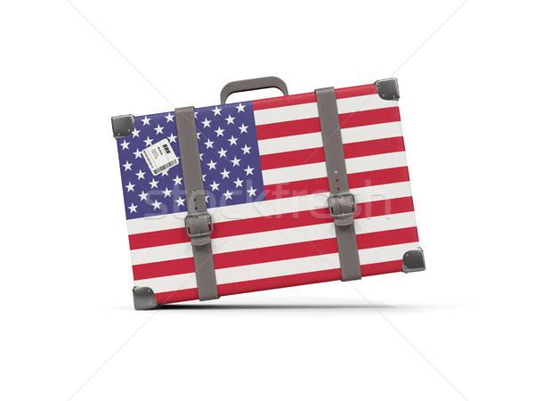 Bagaj bayrak Amerika Birleşik Devletleri Amerika bavul yalıtılmış Stok fotoğraf © MikhailMishchenko