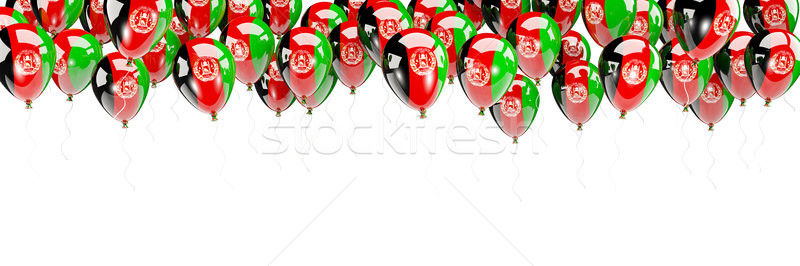 Balloons frame with flag of afghanistan Stock photo © MikhailMishchenko