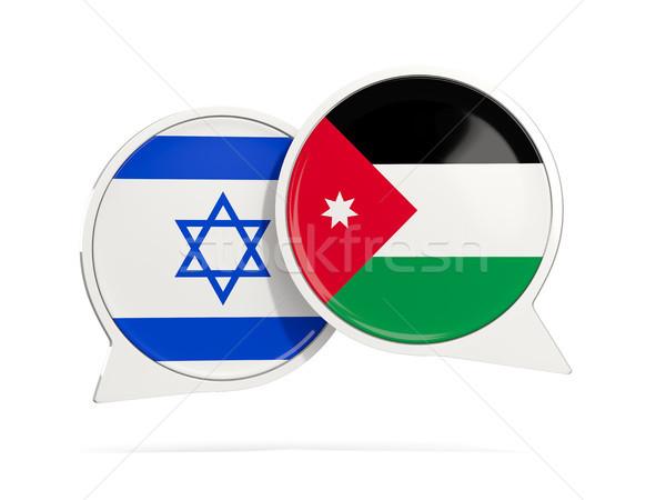 Chat pęcherzyki Izrael Jordania odizolowany biały Zdjęcia stock © MikhailMishchenko