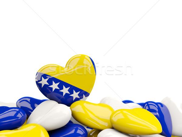 Corazón bandera Bosnia Herzegovina superior corazones aislado Foto stock © MikhailMishchenko