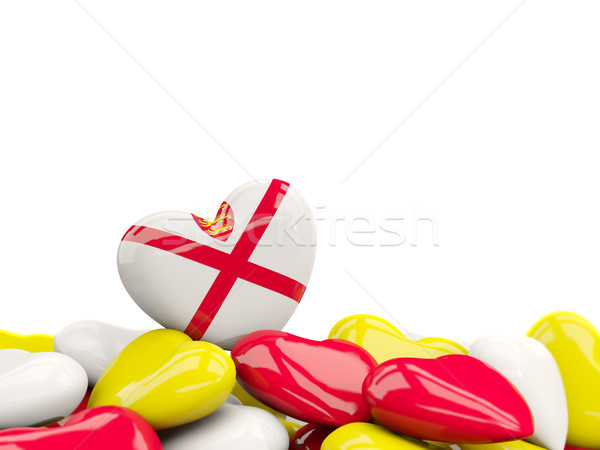 Heart with flag of jersey Stock photo © MikhailMishchenko