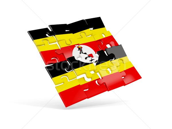 Puzzle pavillon Ouganda isolé blanche 3d illustration Photo stock © MikhailMishchenko