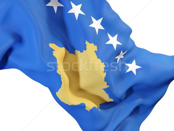 Bandeira Kosovo ilustração 3d viajar Foto stock © MikhailMishchenko