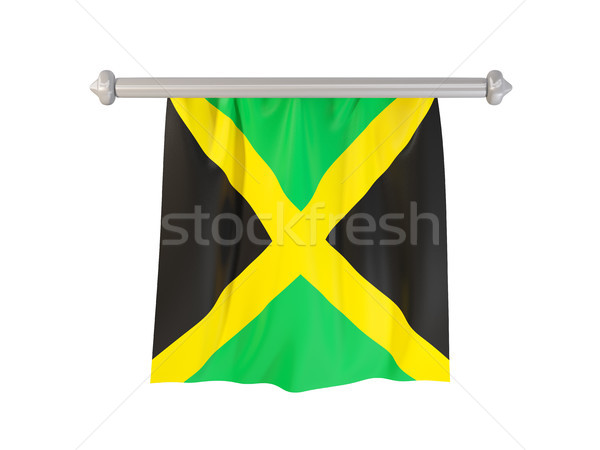Pennant with flag of jamaica Stock photo © MikhailMishchenko