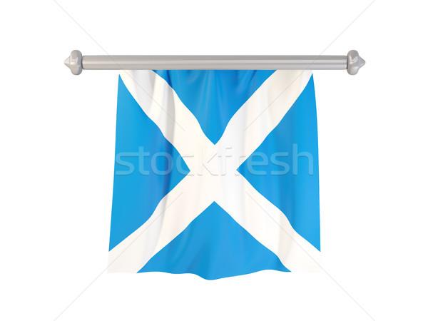 フラグ スコットランド 孤立した 白 3次元の図 ラベル ストックフォト © MikhailMishchenko