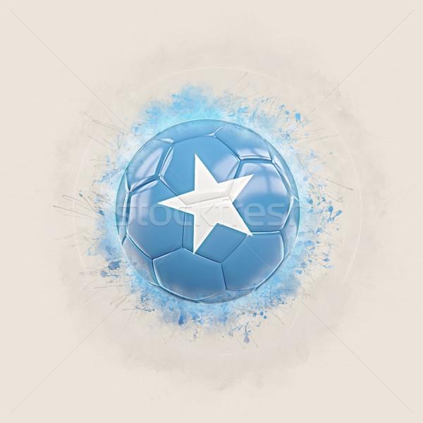 Grunge piłka nożna banderą Somali 3d ilustracji świat Zdjęcia stock © MikhailMishchenko