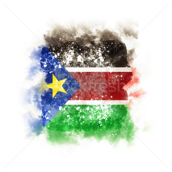 Tér grunge zászló dél Szudán 3d illusztráció Stock fotó © MikhailMishchenko