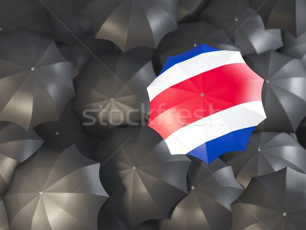 Paraguas bandera Costa Rica superior negro paraguas Foto stock © MikhailMishchenko