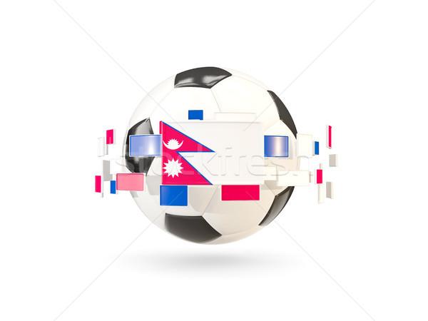 футбольным мячом линия флагами флаг Непал Сток-фото © MikhailMishchenko