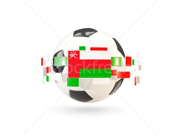 Futbol topu hat bayraklar bayrak Umman Stok fotoğraf © MikhailMishchenko