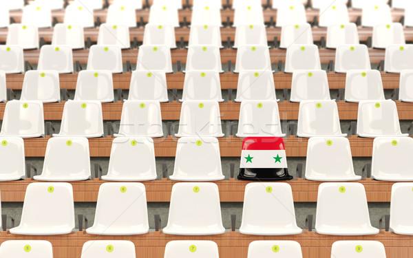 Stadion zitting vlag Syrië rij witte Stockfoto © MikhailMishchenko