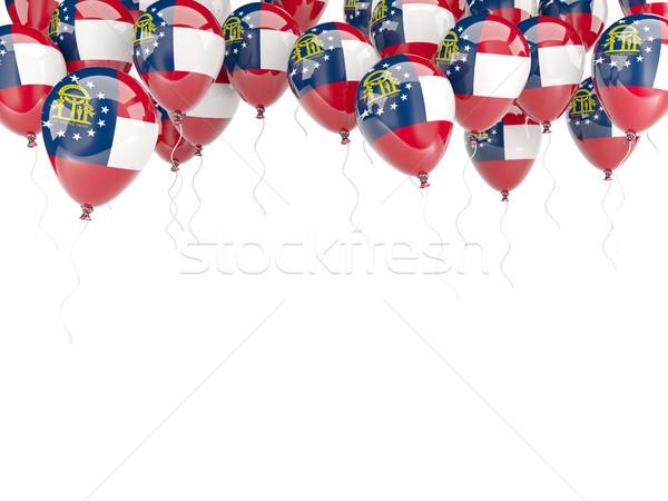 Stock fotó: Léggömbök · keret · zászló · Grúzia · Egyesült · Államok · helyi