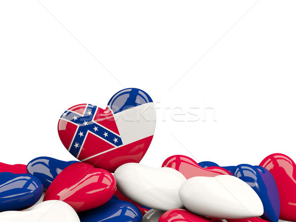 Heart shaped mississippi state flag. United states local flags Stock photo © MikhailMishchenko