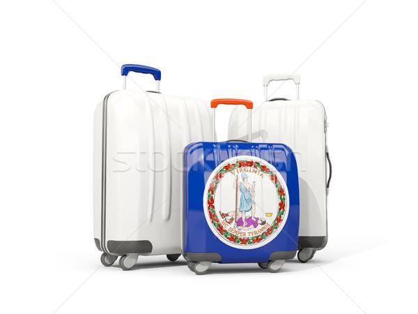 Bagaj bayrak Virjinya üç çanta Amerika Birleşik Devletleri Stok fotoğraf © MikhailMishchenko