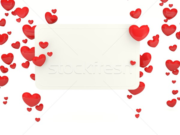 Greeting card with hearts Stock photo © MikhailMishchenko