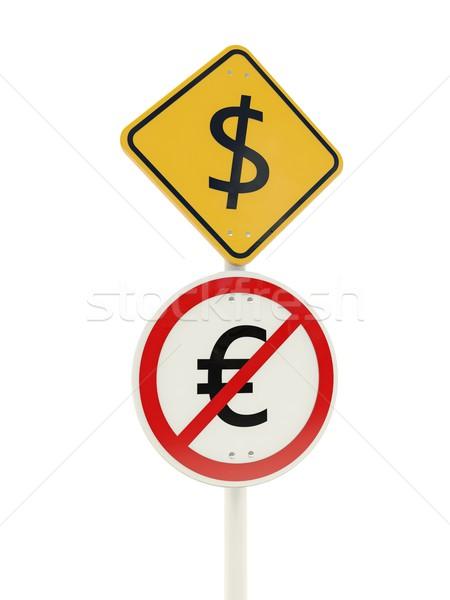 Dollar zone road sign Stock photo © MikhailMishchenko