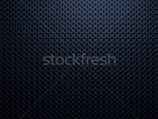 Blauw metaal textuur achtergrond spreker industrie Stockfoto © MikhailMishchenko