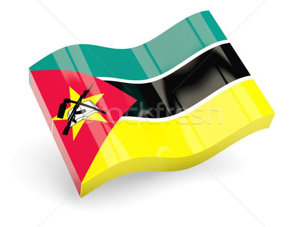3D bandeira Moçambique isolado branco viajar Foto stock © MikhailMishchenko