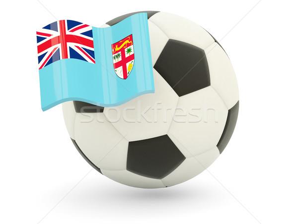 Futball zászló Fidzsi-szigetek izolált fehér sport Stock fotó © MikhailMishchenko