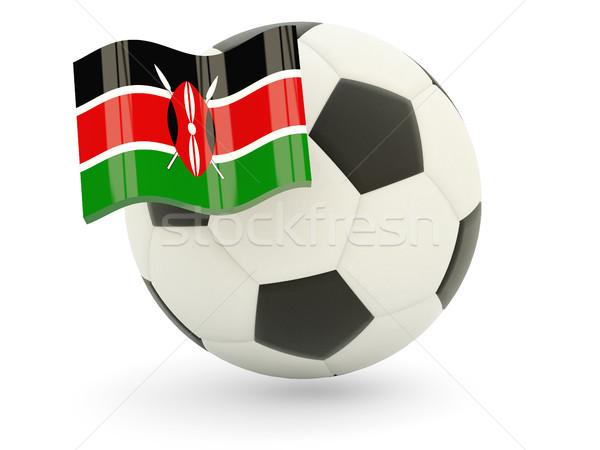 Football pavillon Kenya isolé blanche sport Photo stock © MikhailMishchenko