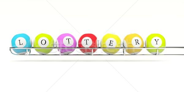 лотерея изолированный белый мяча Сток-фото © MikhailMishchenko