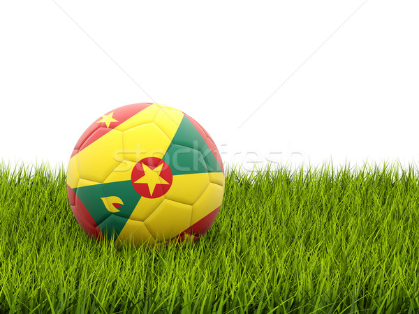 Football with flag of grenada Stock photo © MikhailMishchenko