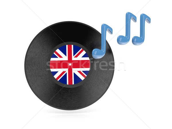 Vinile disco bandiera Regno Unito isolato bianco Foto d'archivio © MikhailMishchenko
