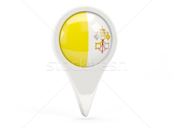 Banderą ikona Watykan odizolowany biały Pokaż Zdjęcia stock © MikhailMishchenko