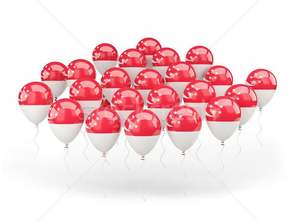 Balões bandeira Cingapura isolado branco país Foto stock © MikhailMishchenko