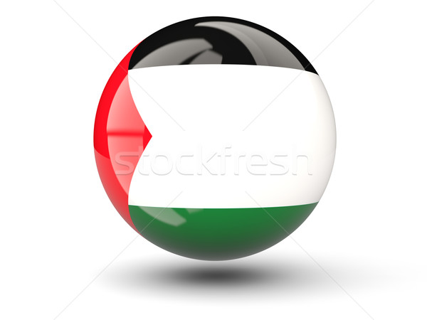 Round icon of flag of palestinian territory Stock photo © MikhailMishchenko