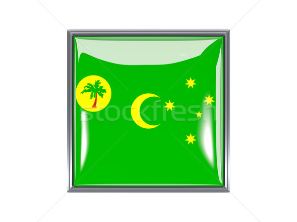 Square icon with flag of cocos islands Stock photo © MikhailMishchenko