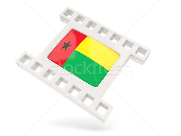 фильма икона флаг Гвинея изолированный белый Сток-фото © MikhailMishchenko