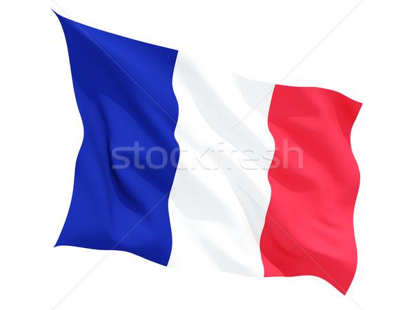 Waving flag of france Stock photo © MikhailMishchenko