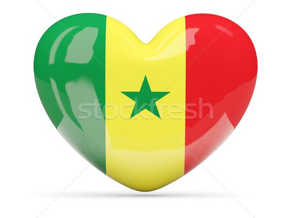 Coeur icône pavillon Sénégal isolé Photo stock © MikhailMishchenko