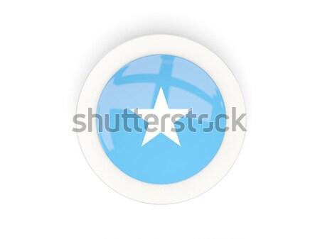 Przycisk banderą Somali metal ramki podróży Zdjęcia stock © MikhailMishchenko