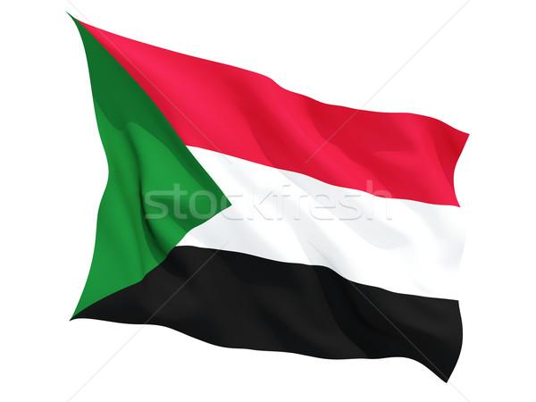 Vlag Soedan geïsoleerd witte Stockfoto © MikhailMishchenko