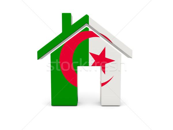 Maison pavillon Algérie isolé blanche recherche Photo stock © MikhailMishchenko
