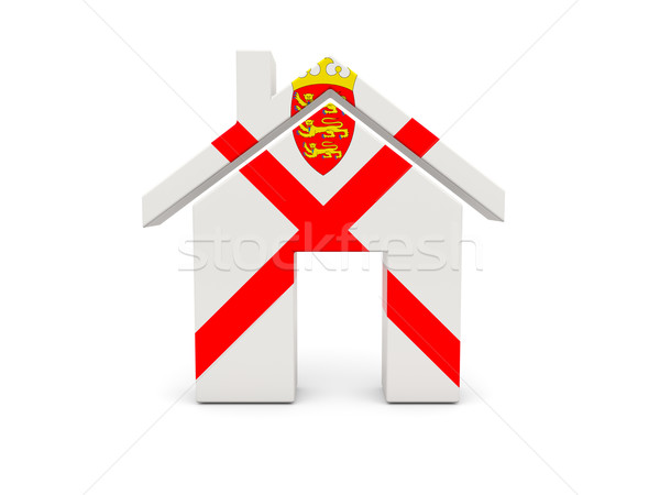 Home with flag of jersey Stock photo © MikhailMishchenko